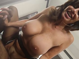 Mature damsel deals master's popular dismal cock in rough modes