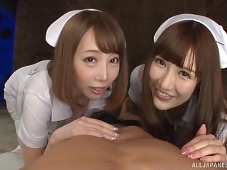 Naughty nurse Kisaki Aya added to her accessory share a long dick